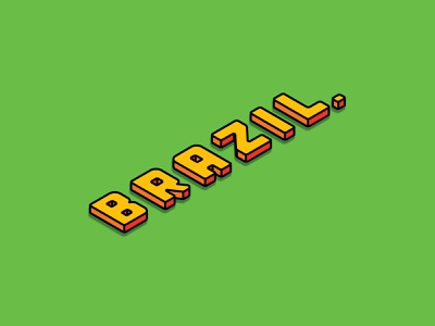 Brazil affinitydesigner big blocky fun brazil childish minimalistic colourful simple minimalist typography