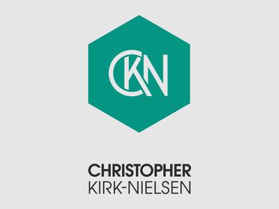 CKN Monogram + Text Block hexagon logo monogram