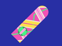Back to the Future Hoverboard Vector Illustration