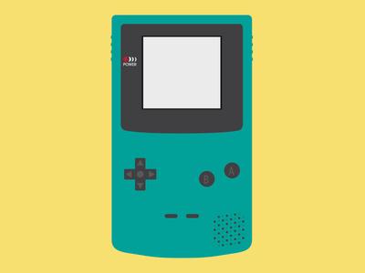 GameBoy Color Vector Illustration illustrator gameboy