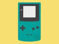 GameBoy Color Vector Illustration