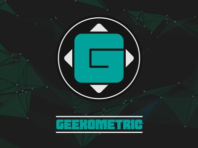 Geekometric Identity monogram illustrator typography logo