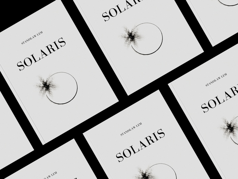solaris. book cover book design solaris illustraion layout design book cover book