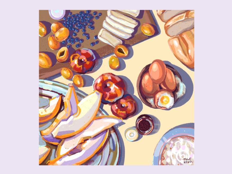 food studies ukraine colorful food illustrator design procreate 2d art art illustration