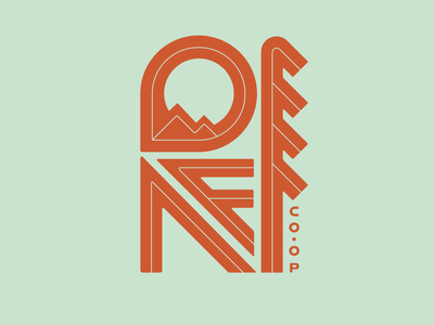 REI Co-op geometric weekly challenge nature branding outdoor rei mountain tree retro logo lettering typography weekly warm-up