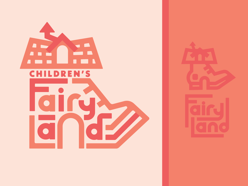 Fairyland shoe children fairy tale amusement park theme park oakland typography geometric branding logo lettering weekly warm-up