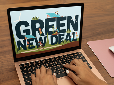 Green New Deal illustration wind solar climate change green new deal weekly warm-up