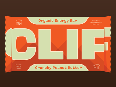 Clif food snack branding energy bar retro packaging typography weekly warm-up