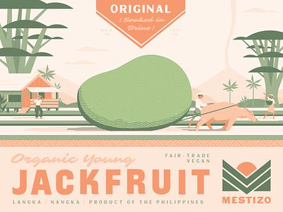 Mestizo (1 of 4) farm philippines label packaging food jackfruit retro logo branding plant-based vegetarian vegan