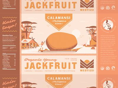 Mestizo (4 of 4) illustration jackfruit island philippines label food vegetarian vegan branding packaging ocean boat