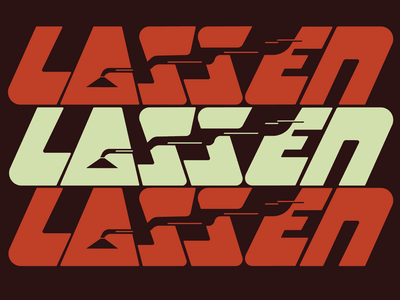 Lassen volcano national park typography weekly warm-up negative space logo