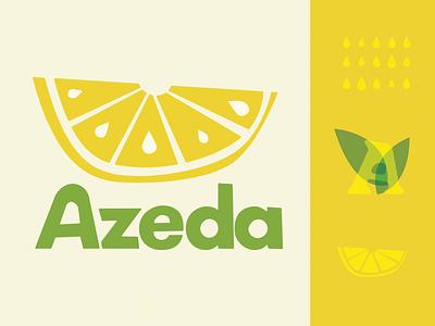 Azeda leaf lemon lemonade retro branding logo typography weekly warm-up