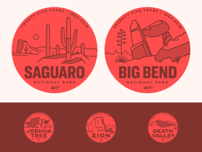National Park Anniversary Stickers