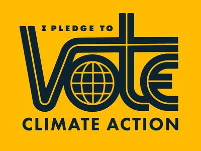 Climate Vote vote logo climate change sierra club