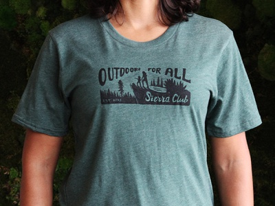 Outdoors for All illustration retro lettering shirt outdoors typography sierra club