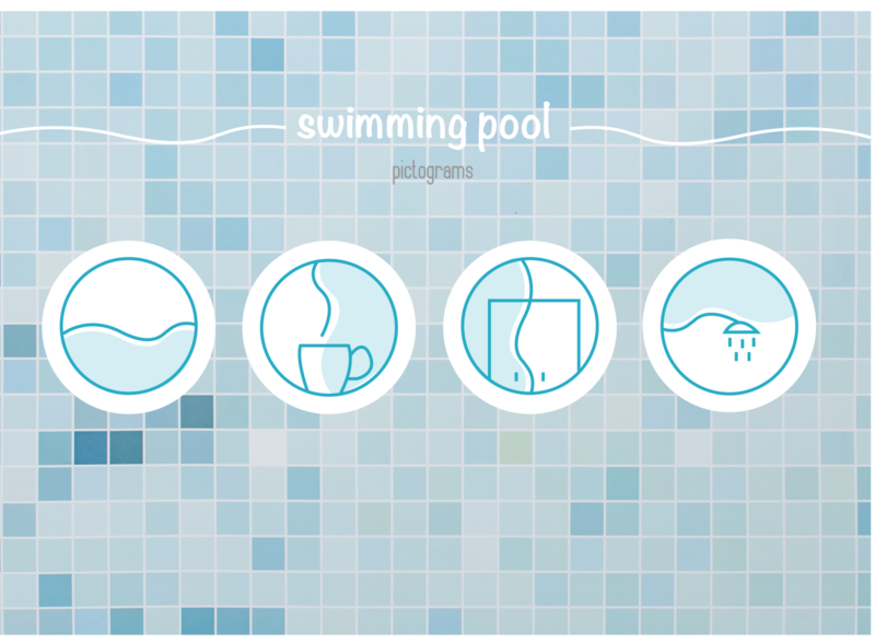 pool pictograms blue and white graphicdesign swimming pool pool pictograms minimal icon vector illustration design