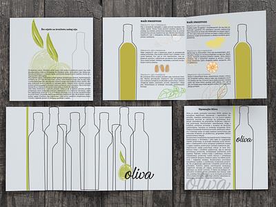 Oliva brochure minimal drawing green olive oil oliva typography icon branding vector illustration graphicdesign design