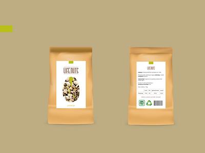 Pistachio packaging typography logo minimal vector branding bio ecology illustration graphicdesign design package mockup packaging pistachio