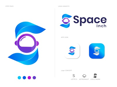 S letter logo design for Space Inch s s mark modern logotype logo mark logodesigns logo designers logo designer for hire logo designer letter logo lettering logo graphic designer creative logo business branding brand identity brand and identity agency s logo space