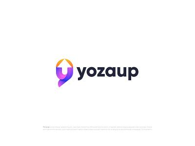 Modern Y letter logo design for yozaup y mark y logo y modern logo modern logotype logo mark logo designer logodesign letter logo illustrator graphic designer gradient freelancer logo branding design branding brand identity app icon abstract art abstract