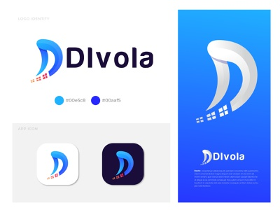 Modern D letter logo design Dlvola d mark d letter logo modern logo letter logo logotype logodesign lettering logo lettering creative logo logo designer branding design branding brand identity best logo designer best brand identity designer agency abstract logo speed logos speed logo d