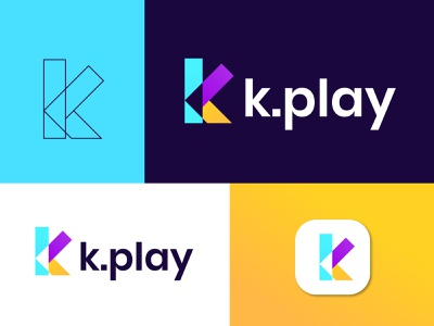 k.play logo design app logotype logo designer k k letter logo modern logo brand identity logo design colorful logo gradient logo business logo modern lettering professional logo abstract art abstract logo play logo play button modern play logo gradient play button