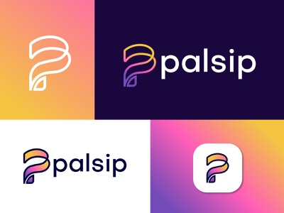 Branding P letter logo design for palsip logo designer for hire logotype designer creative logo branding logo mark abstract logo abstract art professional logo modern lettering business logo gradient logo colorful logo logo design brand identity modern logo p letter logo p logo designer logotype app