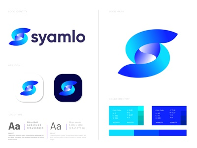 Branding S letter logo design for syamlo pattern design eye catching colorful memorable ecommerce best designer modern logo designer lettering lettermark s letter logo negative space logo creative logo minimalist logo modern logo s logo s letter logo mark logo agency branding brand identity