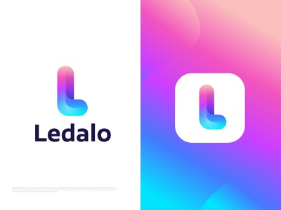 Modern L letter logo  | Colorful logo for Ledalo colorful design gradient l l logo l mark l letter app brand identity branding agency colorful logo creative logo identity designer illustration letter logo logo logo designer logotype modern logo symbol abstract