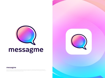Modern messaging app design for messagme professional logo designer gradient logo vector branding modern logo brand identity branding design logo design branding logo designer logotype logo letter logo bubble logo design message icon chat logo design abstract logo mark graphicdesign logo design