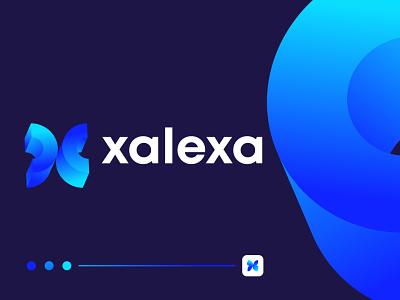 Modern X letter logo design for xalexa letter logo