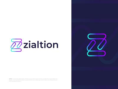 Branding Logo Design for zialtion best logo grid system technology tech startup agency business company corporate creative abstract logo design logo mark letter logo branding modern logo brand identity logo designer logotype