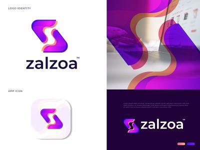 Modern Branding Logo Design for Zalzoa z mark z logo ecommerce overlapping agency business company corporate gradient colorful abstract logo design logo mark letter logo branding modern logo brand identity logo designer logotype