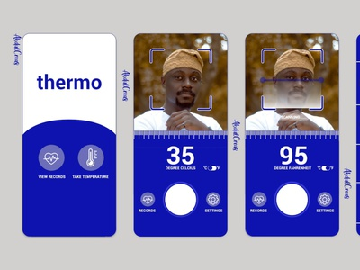 Thermo typography ux ui app design