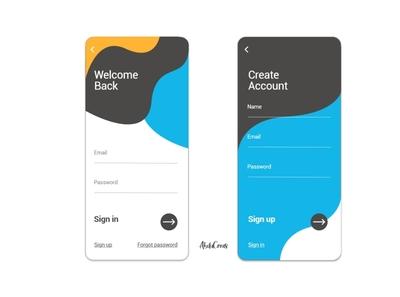 Sign in/ Sign up space web ux ui landingpage sign in sign up signup design app