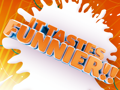 IT TASTES FUNNIER!! orange splat comedy funny
