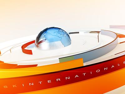 International Desk Monitor Loop broadcast motion graphics animation 3d