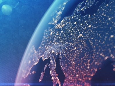 Bright and Tiny Europe blue marble earth cinema 4d c4d depth of field