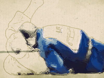 Judo World Open WIP motion graphics painting animation