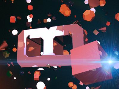 New personal logo play logo 3d motion light