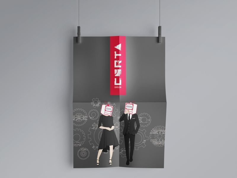 Corta Clothing typography merchandising diseño logotype ilustración carteles diseño gráfico