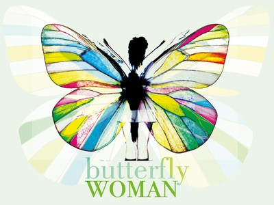 Butterfly Woman beautiful colours ilustration branding project photography illustration typography marca carteles design diseño gráfico