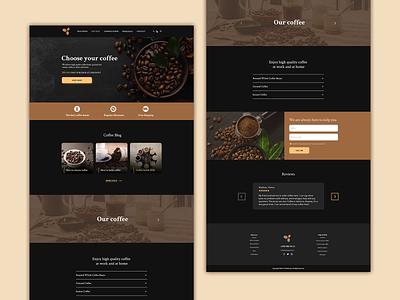 Coffee web creative ux ui web design coffee design