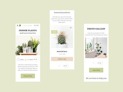 A Plant Shop on Mobile web design mobile green shop store plant ui