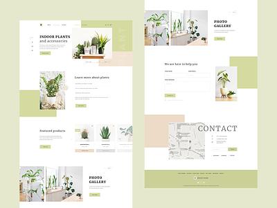A plant store website shop store green creative web design plant ui
