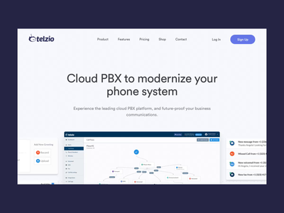 Landing Page Design for Telzio