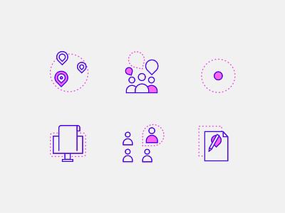Illustrations for Fintalent.io vector pink branding picto color design icon graphic design illustration animation