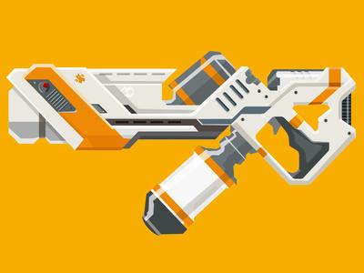 Epic Armory AMR J6 illustration weapon epicarmory district 9 gun epic armory rifle