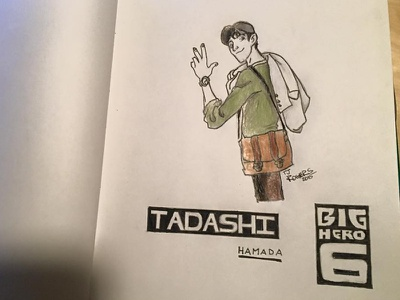 Tadashi Hamada tadashi disney sketch ink saturdaysketchseries bighero6 drawing