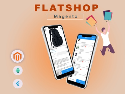 Flatshop - Magento (Android) magento theme woocommerceplugins online shop android ecommerce app online marketing android responsive design clean minimal gateway brand identity branding digital fast delivery cart payment online store onlinebusiness woocomerce website